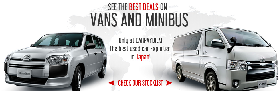 Cheap used vans and mini bus for sale | 1RZ, 1KD, 5L, 3L and more